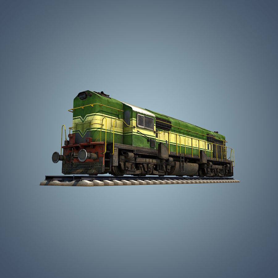 Locomotive royalty-free 3d model - Preview no. 11