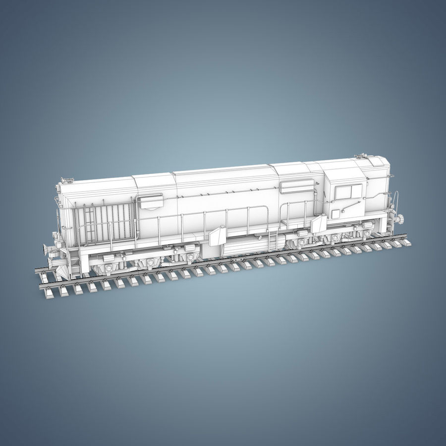 Locomotive royalty-free 3d model - Preview no. 20