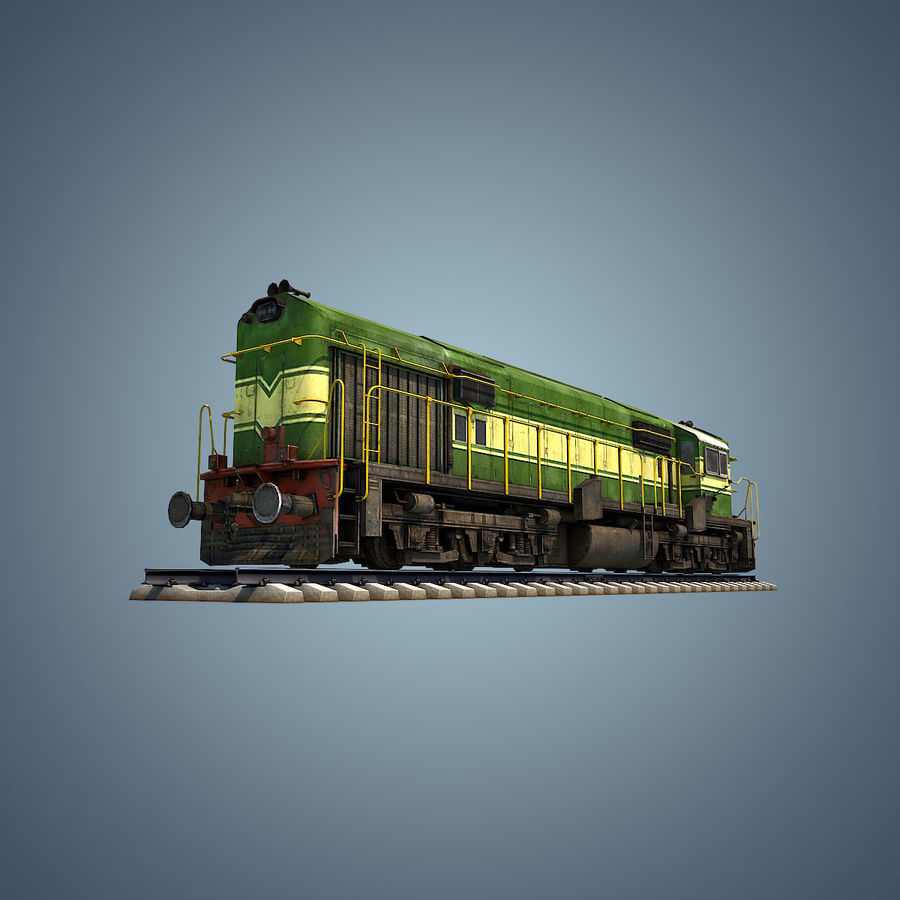 Locomotive royalty-free 3d model - Preview no. 10