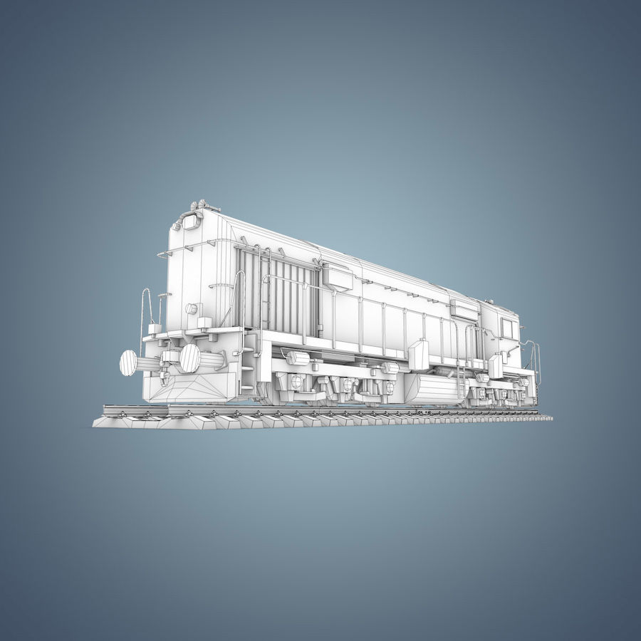 Locomotive royalty-free 3d model - Preview no. 24