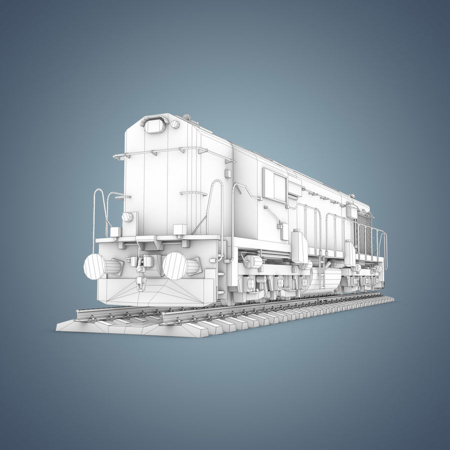 Locomotive royalty-free 3d model - Preview no. 19