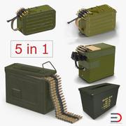 Maskingevär Ammunition Boxes 3D Models Collection 3d model