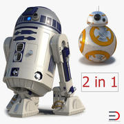 Star Wars Droids R2D2 and BB8 Collection 3d model