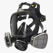 全脸呼吸器3M 7800(二手) 3d model
