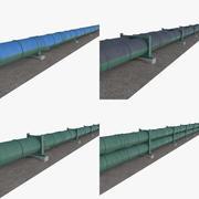 Odbiór rurociągów ropy / gazu ziemnego 1 3d model