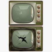 电视破损 3d model