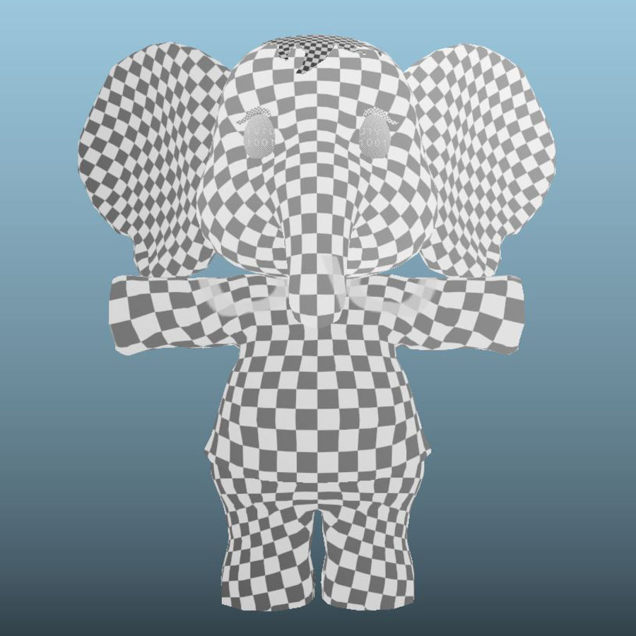 Baby Cartoon Elephant royalty-free 3d model - Preview no. 17