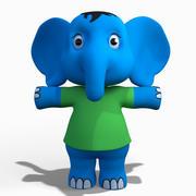 Éléphant de dessin animé bébé 3d model