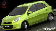 Nissan Micra 2012 (Bajo Interior) modelo 3d