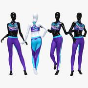Female sport suit 4 3d model
