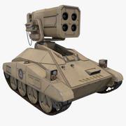 Sci-fi Rockets Drone Tank Concept 3d model
