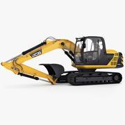 Tracked Excavator JCB JS130 3d model