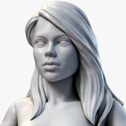 Girl Miniature Action Figure Constructor 3d model