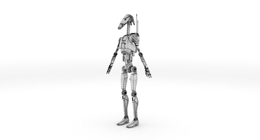 B1 Battle Droid RIGGED royalty-free 3d model - Preview no. 4