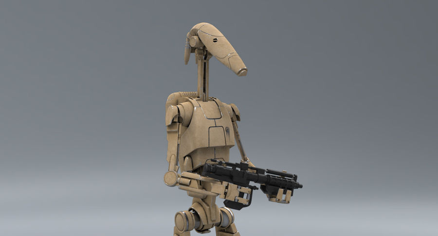 B1 Battle Droid RIGGED royalty-free 3d model - Preview no. 1