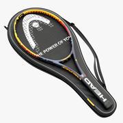 Raquete de tênis Cabeça no estojo. 3d model