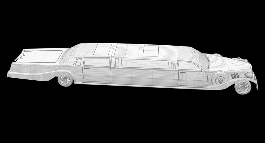 Limusina estirada royalty-free modelo 3d - Preview no. 21