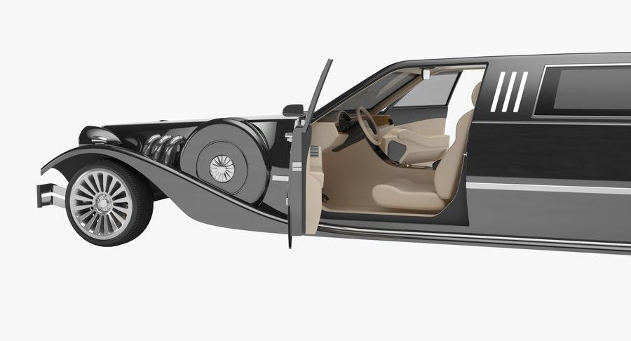 Limusina estirada royalty-free modelo 3d - Preview no. 10