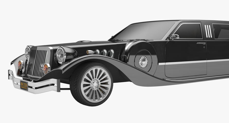 Limusina estirada royalty-free modelo 3d - Preview no. 8