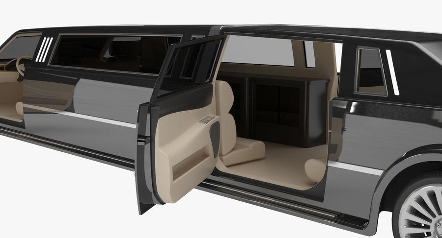 Limusina estirada royalty-free modelo 3d - Preview no. 11