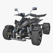 Modelo 3D genérico de moto-quatro de corrida 3d model