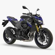 Motocicleta padrão Kawasaki Z800 2016 3d model