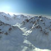 Рельеф Снежного Хребта Аляска 35 Пейзаж 3d model