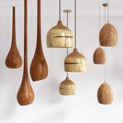 木制灯组1 3d model