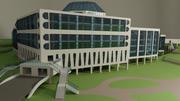 Bâtiment du centre des sciences 3d model