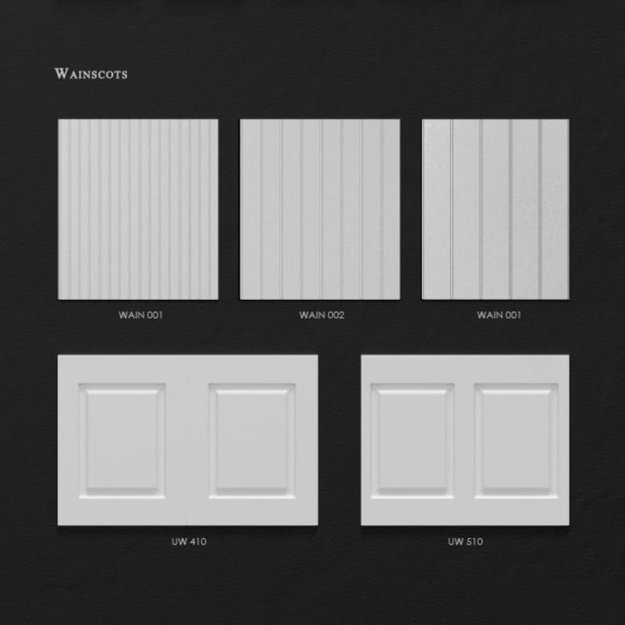 Ultrawood architectural decor royalty-free 3d model - Preview no. 6