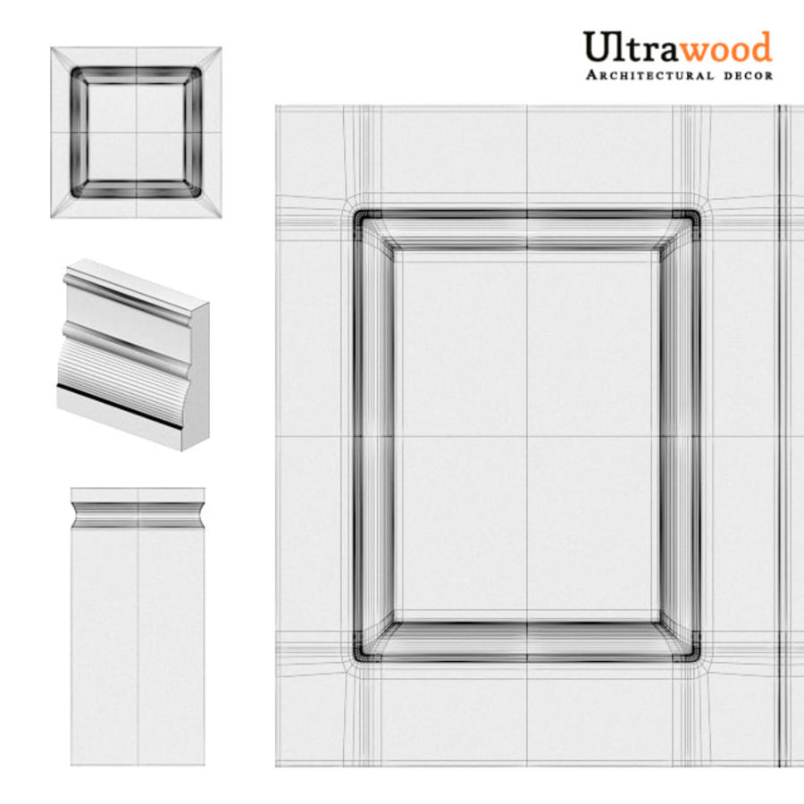 Ultrawood architectural decor royalty-free 3d model - Preview no. 7