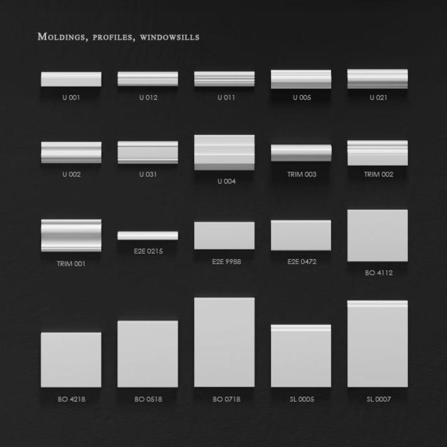 Wystrój architektoniczny Ultrawood royalty-free 3d model - Preview no. 5