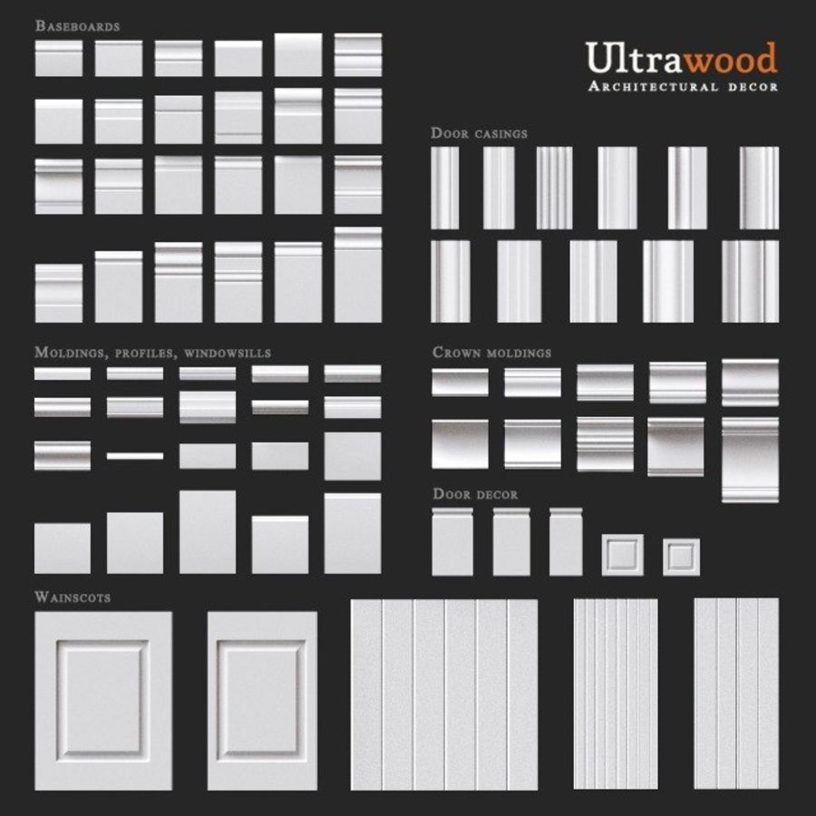 Ultrawood architectural decor royalty-free 3d model - Preview no. 1