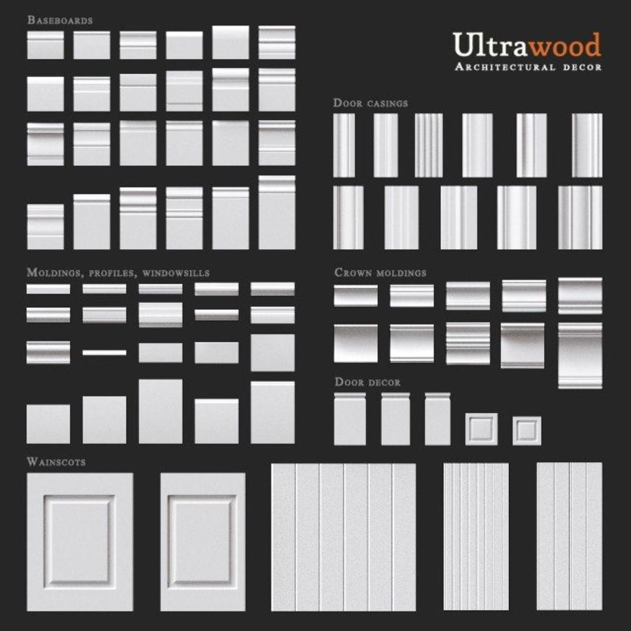 Wystrój architektoniczny Ultrawood royalty-free 3d model - Preview no. 1