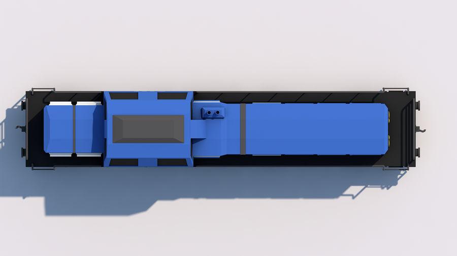 treno merci royalty-free 3d model - Preview no. 8