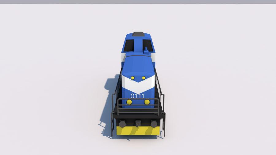 貨物列車 royalty-free 3d model - Preview no. 7