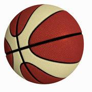 Piłka do koszykówki - styl stopiony 3d model
