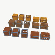 LowPoly boxes pack 3d model