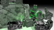 Spelklara industriella Scifi-tillgångar 3d model