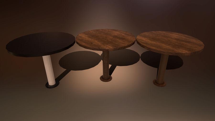Medeltida bord & stol & stol royalty-free 3d model - Preview no. 3