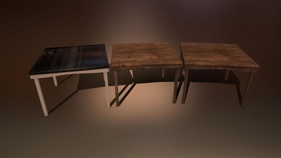 Medeltida bord & stol & stol royalty-free 3d model - Preview no. 4
