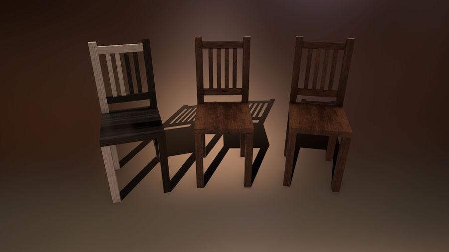 Medeltida bord & stol & stol royalty-free 3d model - Preview no. 2