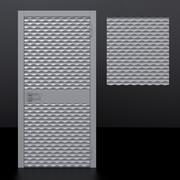 Дверь 1 и декоративная панель 3d model