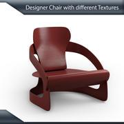 Silla de diseño con múltiples texturas modelo 3d