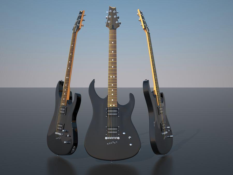 Gitarr royalty-free 3d model - Preview no. 1