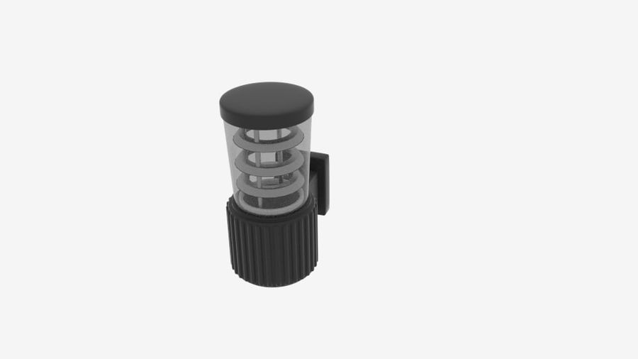 Wall Fence Light royalty-free 3d model - Preview no. 2