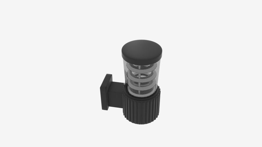 Wall Fence Light royalty-free 3d model - Preview no. 3