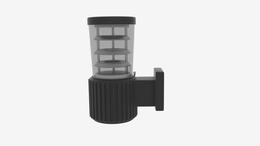 Wall Fence Light royalty-free 3d model - Preview no. 1