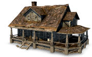 Alte verlassene Hausschablone 3d model