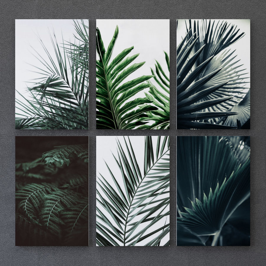 JUNIQE Tropical Set-01 Framed royalty-free 3d model - Preview no. 3